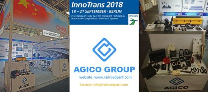 Agico group rail fasteners on innotrans exhibition