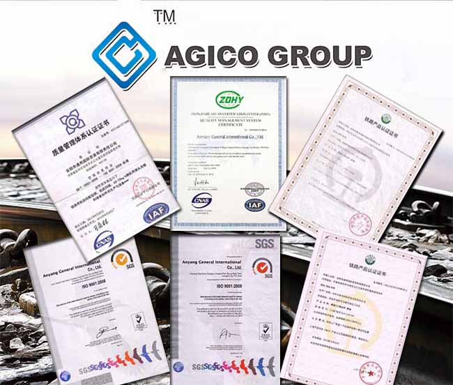 AGICO Rail Product Qualifications