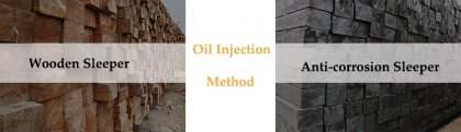 Anti-corrosion wood sleeper oil injection method