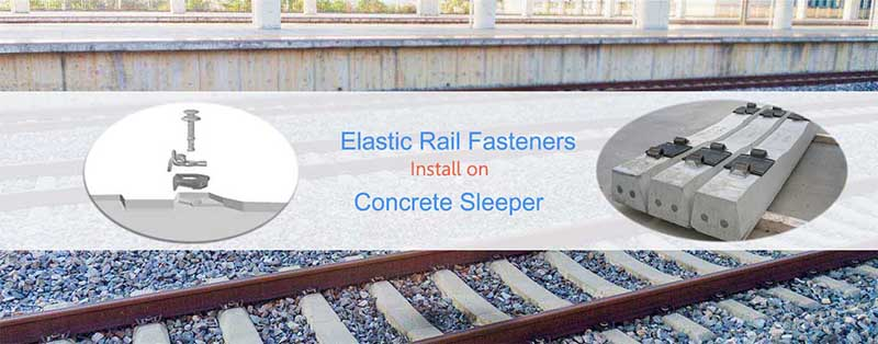 Elastic Rail Fastener On Concrete Sleeper
