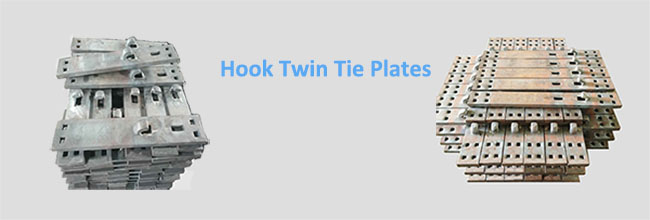 Hook Twin Tie Plate for Sale