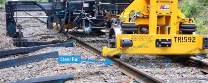Steel rail raw material and structure
