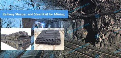 Railway steel sleeper and rail for mining field