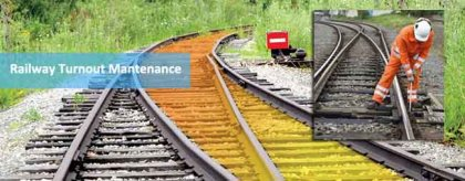 The routine maintenance of railway turnouts