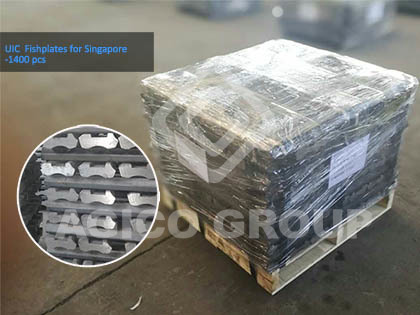 1400 pcs UIC-60 fishplate exported to singapore