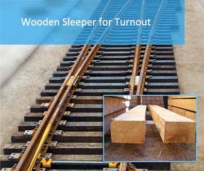 Wooden Sleeper For Turnout